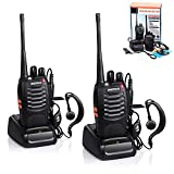 Baofeng Walkie Talkie, BF-888S Two Way Radios Built in LED Torch for Camping Hiking Hunting Travelling Communication Walkie Talkies (2pcs Pack)
