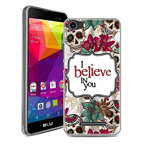 BLU Advance 5.0, BLU Dash M Case, SuperbBeast Ultra Thin Slim Crystal Clear Soft Silicone TPU Rubber Protective Cover Case Skin for BLU Advance 5.0, BLU Dash M Smartphone (Believe)