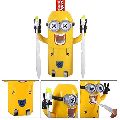 Zwei Augen Despicable Me Minion Ich Einfach Unverbesserlich Zahnbuerstenhalter automatische Zahnpasta Spender mit Buerste Tasse Wash Set