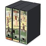 KAOS Set da 3 raccoglitori ad anelli dorso 8 LA GRANDE JATTE, Georges Seurat - Misure Set: 26x34x29 cm