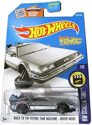 Hot Wheels 2016 Screen Time Hover Mode Back to The Future Time Machine Delorean