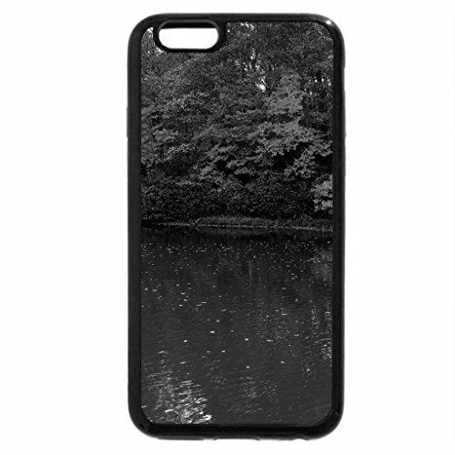 iPhone 6S Plus Case, iPhone 6 Plus Case (Black & White) - Autumn Lake Reflection