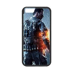 Battlefield 4 Juego 13808 Funda iPhone 6 Funda caja del teléfono celular 4.7 pulgadas Caso Negro X2W7RBGG Diseño Plástico Teléfono