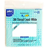 Pellon 300 Thread Count Cotton Fabric for Embroidery, 20 by 24-Inch, White