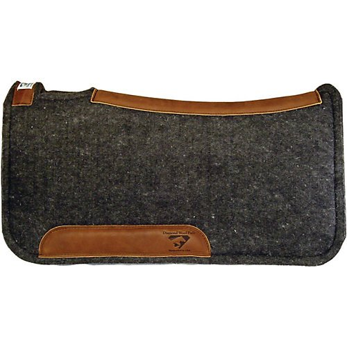 Contour Blanket Saddle - Diamond Wool Contour Felt Ranch Pad 32X32