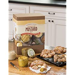 Deluxe DIY Homemade Mustard Kit Makes 3 Styles - Sweet Brown, Dijon Style and Grainy Yellow Mustards