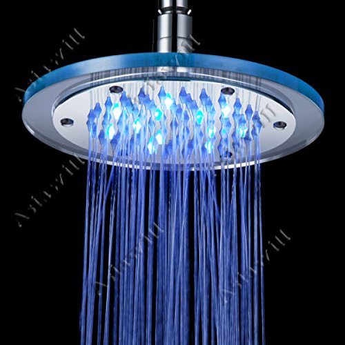8 Inch 7 Colors Changing LED Shower Head - 5