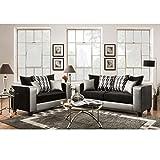 Cheap Flash Furniture Riverstone Implosion Black Velvet Living Room Set