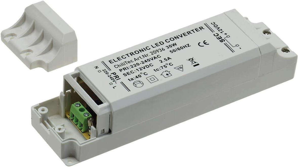 Led Transformer 30 Watt 12 Volt 2 5 A Ballast For Low Voltage Bulbs Lamps Strips Beleuchtung