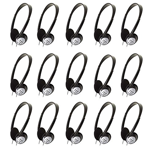 Panasonic RP-HT21 Lightweight Headphones with XBS (15 Pack)