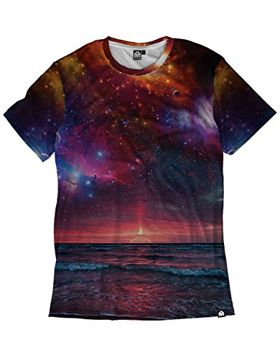 INTO THE AM Horizon Premium Men's All Over Print Tee (Medium)