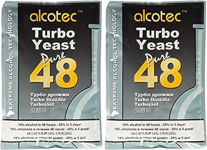 Alcotec 48 horas Turbo levadura, 135 gr (paquete de ...
