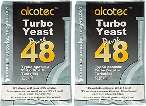 Alcotec 48 horas Turbo levadura, 135 gr (paquete de 2): Amazon.es: Amazon.es