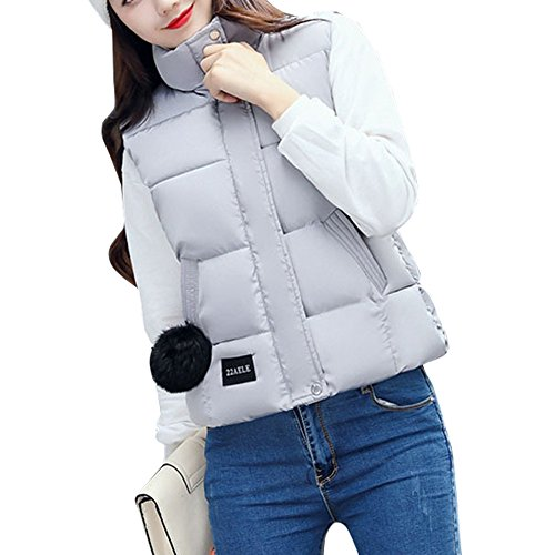 Gray Misaky Jackets Down Faux Women's Coat Hoodie With Fur Puffer rwZxzqAr