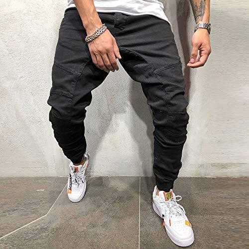 Pour Poches Pantalon Multiples Noir D'attache Travail De Holywin Hommes À HqwPfORng