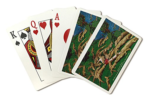 Los Angeles, California - Lunch Time at the Alligator Farm (Playing Card Deck - 52 Card Poker Size with Jokers)