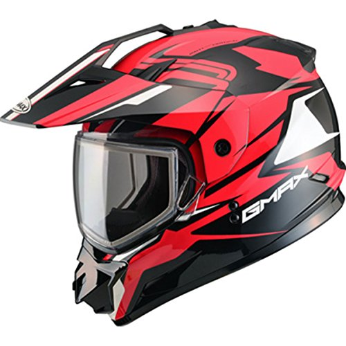 (GMAX Unisex-Adult Full-face-Helmet-Style G2111207 TC-1 Gm11 Snow Vertical Black/Red xl (X-Large))