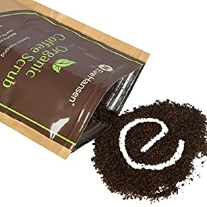 Organic ROBUSTA COFFEE SCRUB w/ Coconut Oil and Vit. E – The Best Exfoliating Natural Body Scrub w/ 2x the Caffeine – By Eve Hansen – Improves Circulation, Reduces Cellulite & Tightens Skin