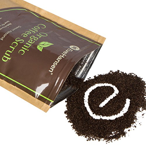 Organic Robusta Coffee Scrub W  Coconut Oil And Vit  E   The Best Exfoliating Natural Body Scrub W  2X The Caffeine   By Eve Hansen   Improves Circulation  Reduces Cellulite   Tightens Skin