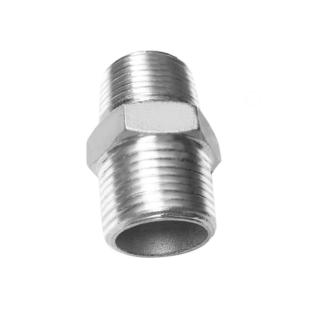 Joywayus 3//4 Male x 3//4 Male Hex Nipple Stainless Steel 304 Threaded Pipe Fitting NPT Pack of 5
