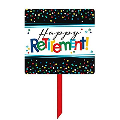 """Happy Retirement"" Party Yard Sign, 15"" x 14"": Kitchen & Dining"