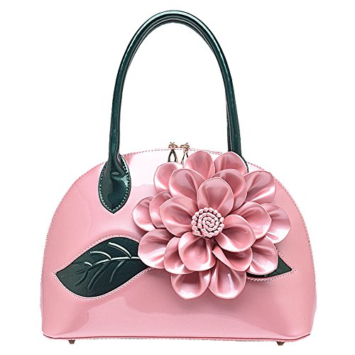 Jvps 127-w 2018 New Style Pearl Paint Pu Leather High Quality White Leather Flower Bag Shell Bag Waterproof Shoulder Bag Popular Pink