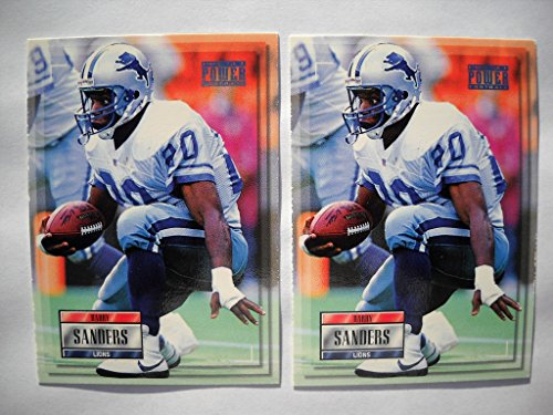 1993 Pro Set Power Barry Sanders Prototype Promo Football Card Lot (2) Lions