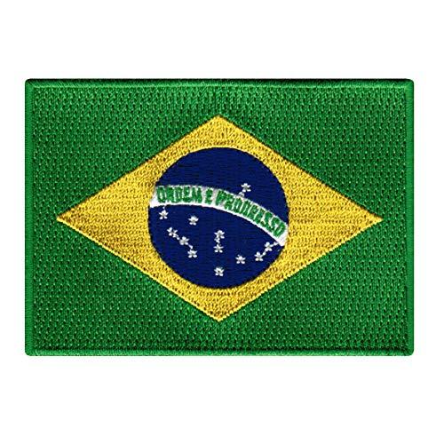 Brazil Flag Embroidered Patch Brazilian Brasil Iron-On National Emblem