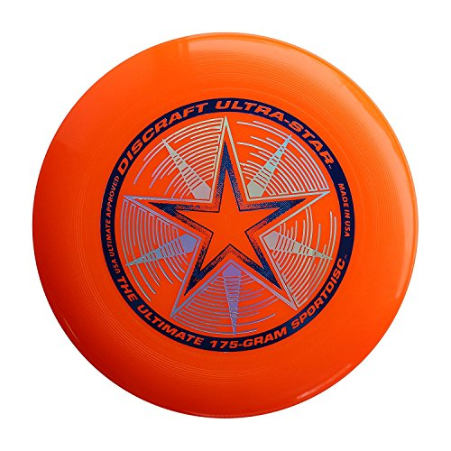 (Discraft 175 gram Ultra Star Sport Disc, Bright Orange)