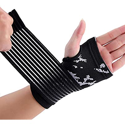 DHDHWL Wristbands Professional Elastic Sports Safety Carpal Tunnel Tennis Wrist Bandage Brace Support Hand Palm Brace Support Color C Estimated Price £32.00 -