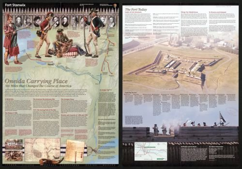 2011 Map Fort Stanwix, Fort Stanwix National Monument, New York - Size: 18x24 - Ready to Frame - New