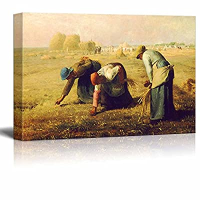 Gleaners by Jean Millet - Canvas Prints