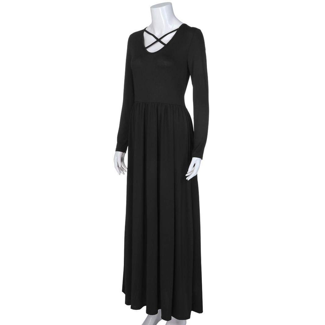 cc4fdbd414e POLP Vestidos Sueltos Mujer, Vestido con Bolsillo, Vestido Manga Larga Mujer,  Falda Larga