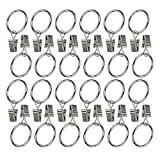 Ogrmar 24Pcs 1.5'' Nickel plating Metal Curtain Clip Rings (1.5'')