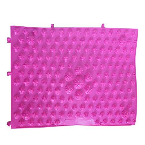 TOOGOO(R) Rubber Sport Leisure Acupuncture Foot Massage Mat Shiatsu Sheet Pink