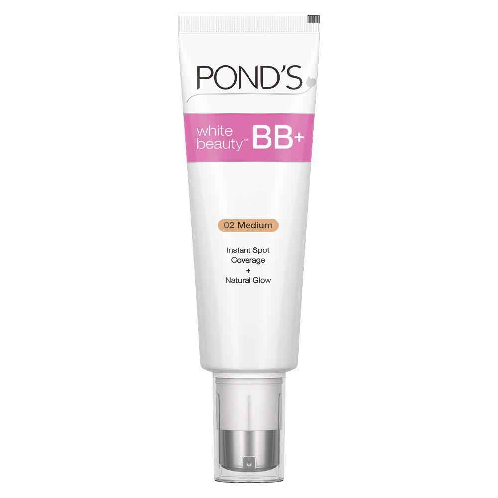 POND'S BB+ Cream, Instant Spot Coverage + Natural Glow, 02 Medium, 50 g