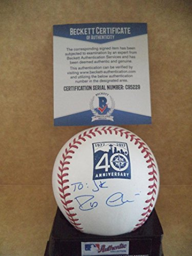 RS 40TH ANNIVERSARY SIGNED BASEBALL PERSONALIZED BECKETT C95225 (Personalized Autographed Baseball)