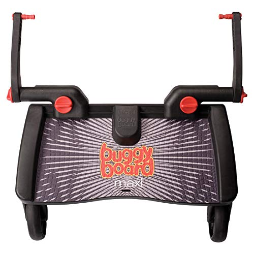 Lascal BuggyBoard Maxi, Universal Ride-On Stroller Board, Fits More Strollers Than Any Other Board Using The Patented Universal Adapter, Quick Connect and Disconnect, Holds Up To 66 lbs., Black ()