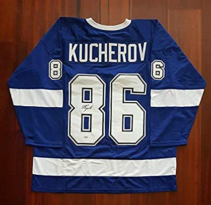 Image Unavailable. Image not available for. Color  Nikita Kucherov Signed  Jersey ... 1b5bd492e