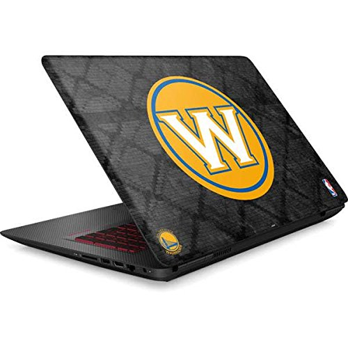 Skinit NBA Golden State Warriors Omen 15in Skin - Golden State Warriors Dark Rust Design - Ultra Thin, Lightweight Vinyl Decal Protection by Skinit