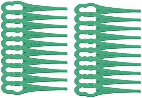 100x Schwarz Ersatzmesser für Bosch Freischneider ART 23 Easytrim Accu
