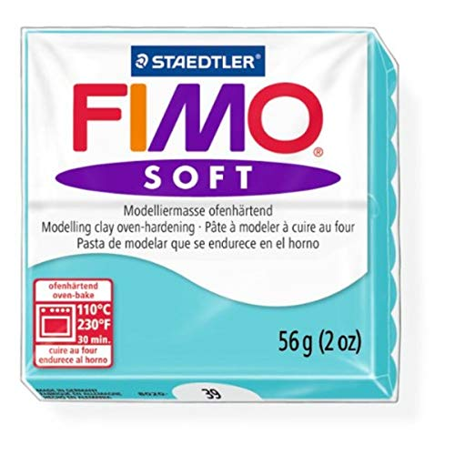 Staedtler Fimo Soft Peppermint (39) Oven Bake Modelling Clay Moulding Polymer Block Colour 56g (1 Pack)