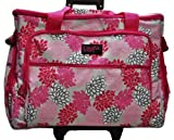 XL Sewing Machine Trolley Pink Grey Floral