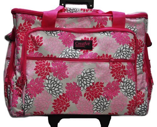 XL Sewing Machine Trolley Pink Grey Floral by Creative Notions