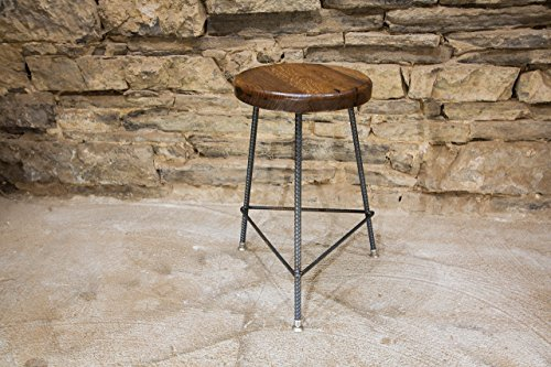 The Factory Bar Stool | Reclaimed Seat | Hand Made | Industrial Base | Free Shipping