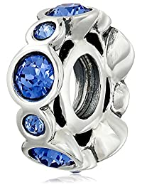 "Chamilia""Birthstone Jewels"" Sterling Silver and Swarovski Crystal Bead Charm"