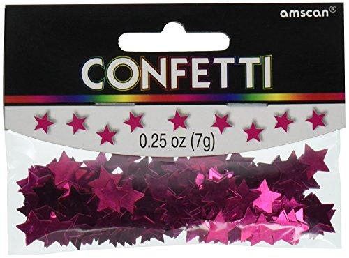 Amscan 369146.103 Mini Stars Pink Confetti, 1/4 oz, ()