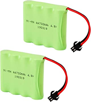 Crazepony-UK 2PCS 4.8V 700mAh Battery Pack SM Connector for RC Car Replacement Battery: Amazon.es: Electrónica