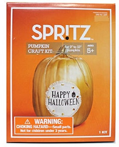 Spritz Pumpkin Craft Decorating Kit ~ Burlap Happy Halloween Linen (Halloween Cake Pops Pumpkin)