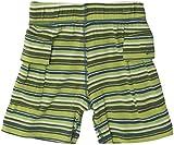Kickee Pants Print Boy Short (Baby) - Island Boy Stripe-0-3 Months